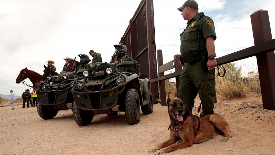 US National Guard deployed on Mexican border