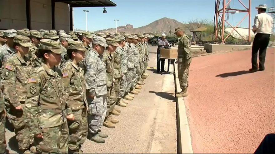 Garde nationale américaine à la frontière mexicaine