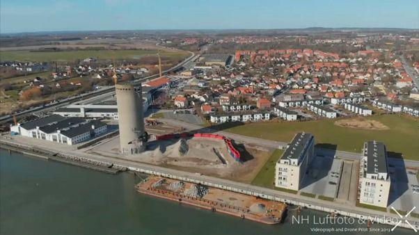 Danimarka'da korkutan iş kazası