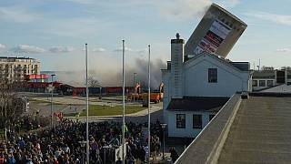 A silo demolition goes wrong
