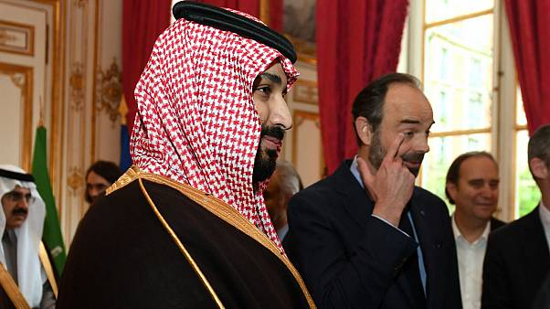 استقبال ادوارد فیلیپ نخست وزیر فرانسه از محمد بن سلمان در پاریس