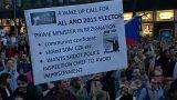 Tüntetések a cseh kormány ellen