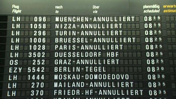 Greve em aeroportos alemães perturba tráfego aéreo na Europa