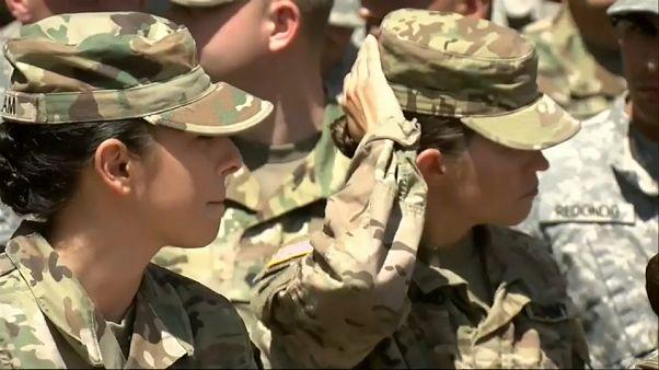 Аризонские гвардейцы на мексиканской границе