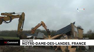 """France : l'évacuation de Notre-Dame-des-Landes vise à déloger """"une centaine"""" de personnes"""