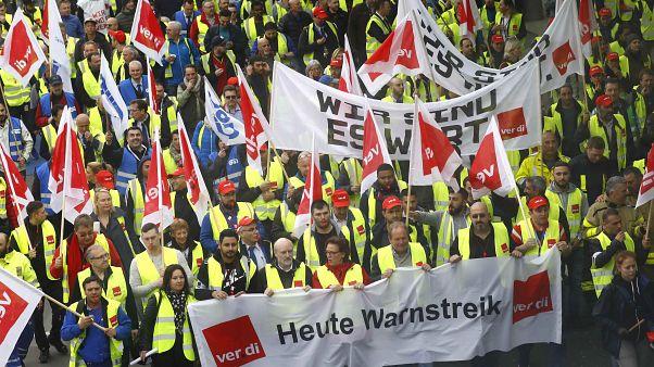 Предупредительная забастовка немецких служащих