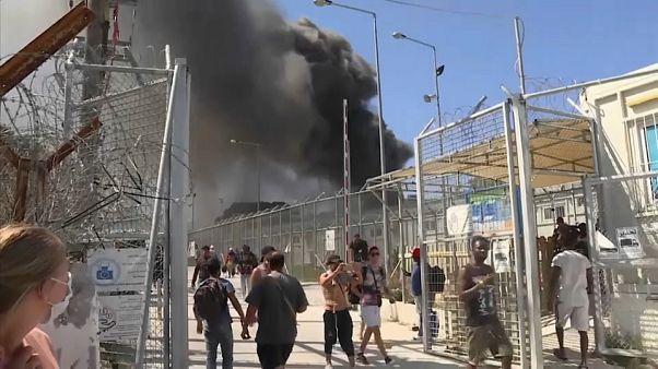 Enfrentamientos en el campo de refugiados de Moria