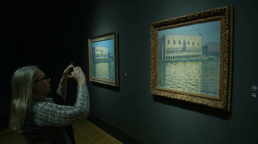 Monet's use of buildings was central to many of his compositions