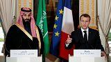 کنفرانس خبری مشترک رئیس جمهوری فرانسه با ولیعهد عربستان