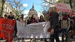 Protestas de estudiantes en Francia