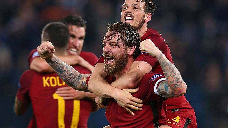 Remarkable Roma knock out Barcelona as Liverpool hold off Manchester City