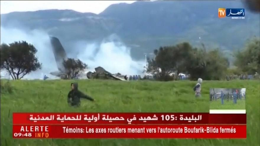 Cezayir'de askeri nakliye uçağı düştü: Ölü sayısı 257