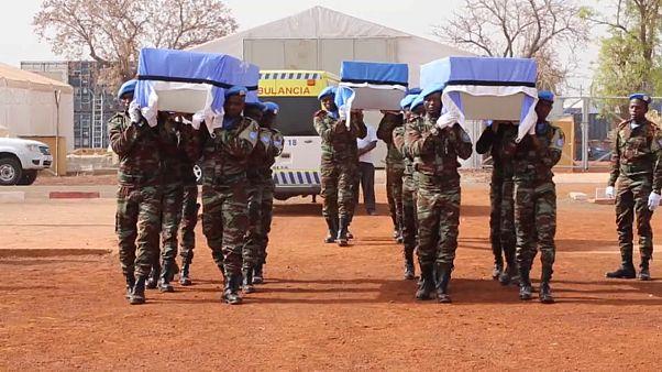 В Мали простились с погибшими миротворцами