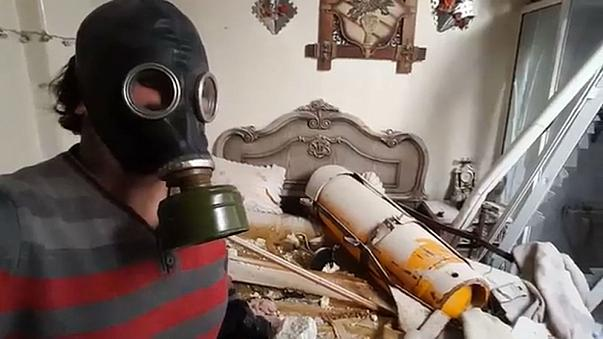 Image purports to show missile used in alleged Douma chemical attack