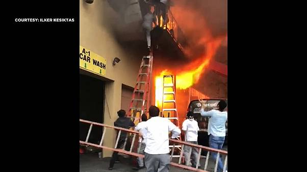Dancers jump from balcony in New Jersey to escape fire