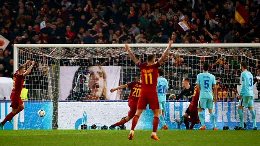 Champions League: Roma-Barcellona, le reazioni post gara