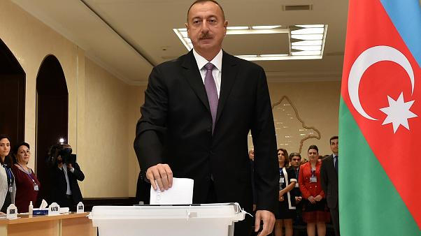 Aliyev votes in Azerbaijan election
