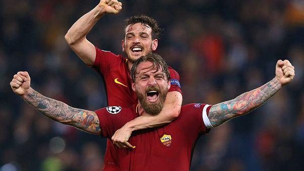 Festa em Roma, choque em Barcelona