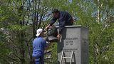 В Белграде демонтировали бюст Гагарина