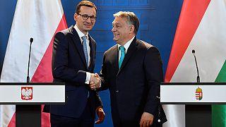 Orbán Viktor miniszterelnök és Mateusz Morawiecki lengyel kormányfő