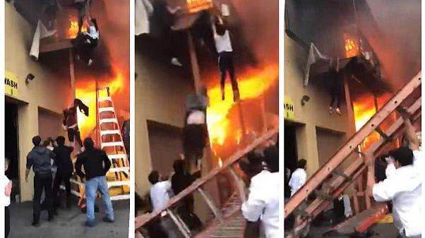 نیوجرسی؛ دختران گرفتار در آتش از بالکن خود را به پایین پرت کردند