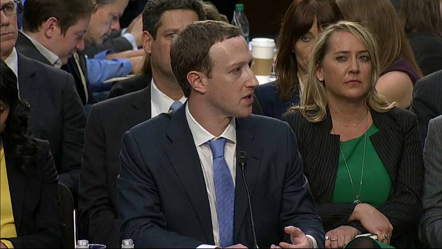 Zuckerberg testifying in the US Congress