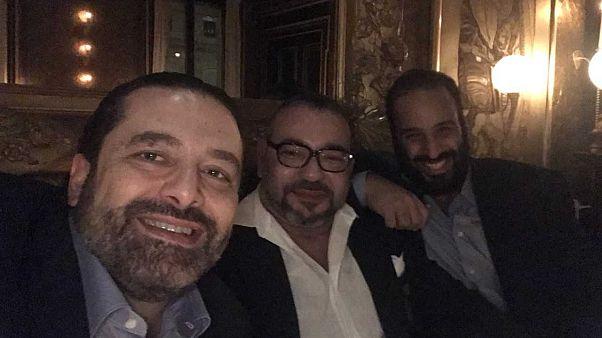 3 auf einem Selfie: Was machen Mohammed VI, MBS und Hariri in Paris?