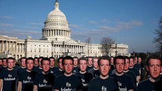 Protesta ante el Congreso de EE.UU.