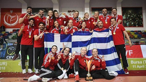 Βόλεϊ γυναικών: Ο Ολυμπιακός στην κορυφή της Ευρώπης
