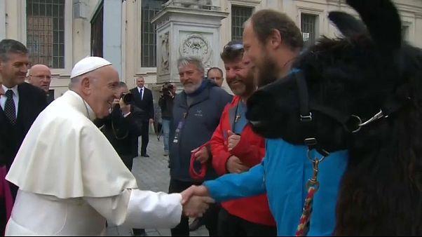 Papst empfängt Südtiroler Pilger mit Lamas
