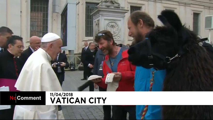 Trois lamas reçus par le pape François au Vatican