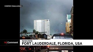 Fort Lauderdale'de görülen kasırga panik yarattı