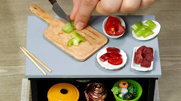 Couple becomes culinary sensation with miniature-sized dishes