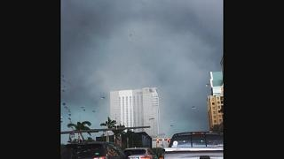 Tornado Swirls Through Downtown Fort Lauderdale