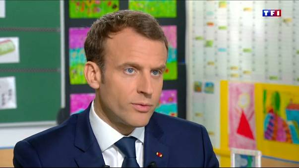 French President Emmanuel Macron said France has proof of chemical weapons