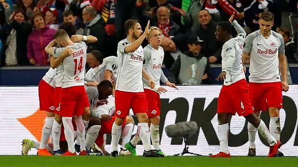 UEFA: Salzburg'dan müthiş geri dönüş