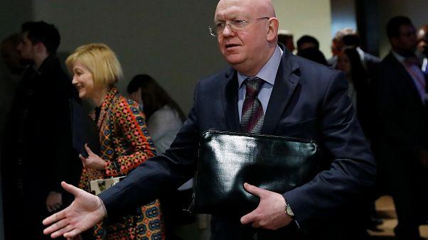 Russlands UN-Botschafter Wassili Nebenzia in New York