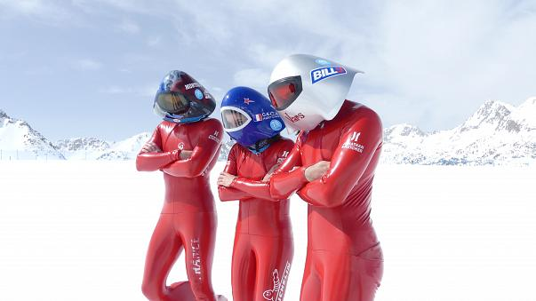 Watch: World's fastest skiers race down slopes at 200 km per hour