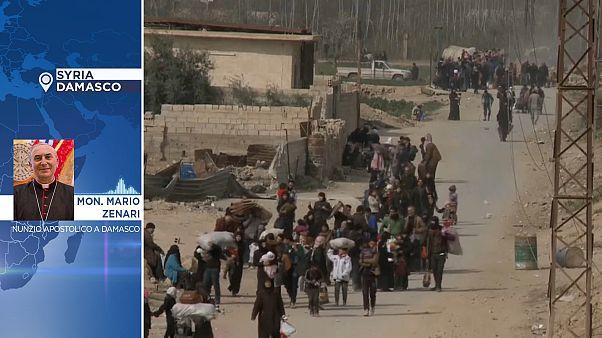 L'inferno della Siria, parla il Nunzio apostolico a Damasco