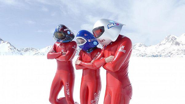 Video: Schnellste Skifahrer der Welt rasen Pisten mit 200km/h hinunter
