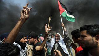 Gaza: le immagini degli scontri, centianaia di feriti