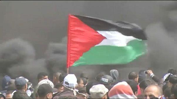 Confrontos na fronteira de Gaza com Israel
