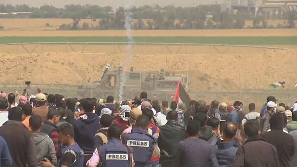 İsrail askerlerinden Gazze'deki protestolara müdahale