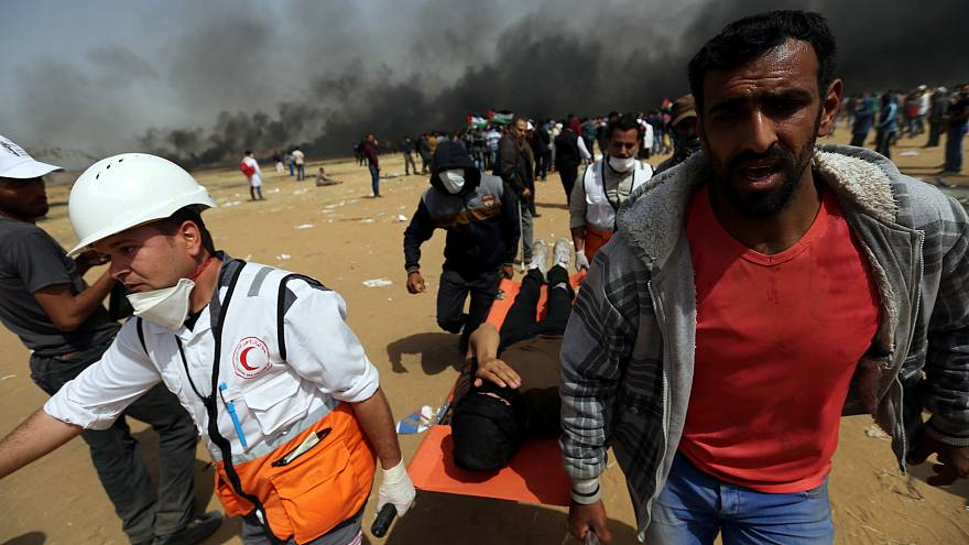 Hundreds of Palestinians have been killed or wounded in the protests