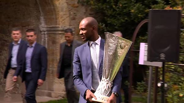 Трофей Лиги Европы прибыл в Лион