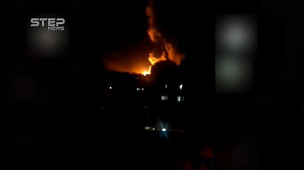 Syrien: Video von Luftangriffen bei Damaskus