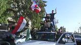 """""""Wir haben keine Angst"""": Feiern in Damaskus nach den Luftangriffen"""