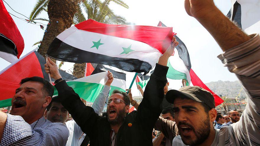 Esed rejimi yanlıları operasyona tepki için toplandı