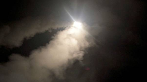 Watch: US military releases video of Tomahawk missiles being fired towards Syria