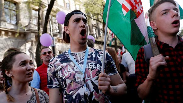 Anti-government protest in Hungary draws thousands